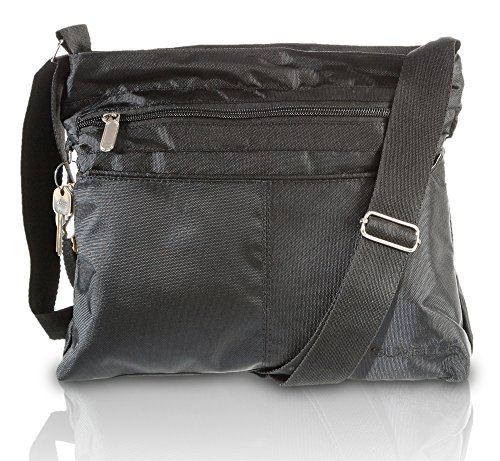 Suvelle Lightweight Classic Travel Everyday Crossbody Bag Multi Pocket Shoulder Handbag 1905 by SUVELLÉ