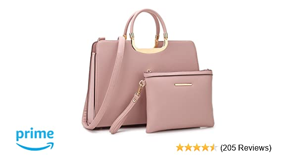 9311e170e68d Amazon.com  Dasein Women s Handbags and Purses Ladies Designer Tote  Shoulder Bags Satchel Top Handle Work Bags Briefcase with Matching Wallet   Shoes