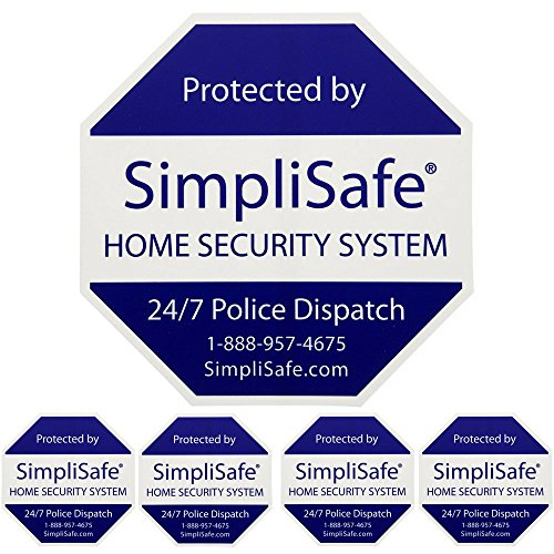SimpliSafe 1 Home Security Yard Sign With 4 Security Stickers ()