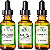 ToLB 72% Organic Anti Aging Serum Combo Pack - Vitamin C Serum, Retinol