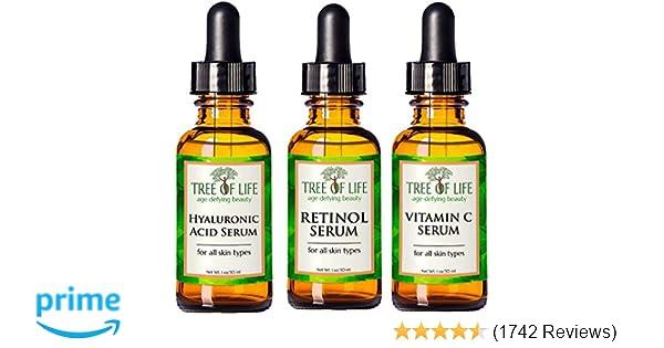 Anti Aging Serum 3-Pack - Face Serum Full Regimen