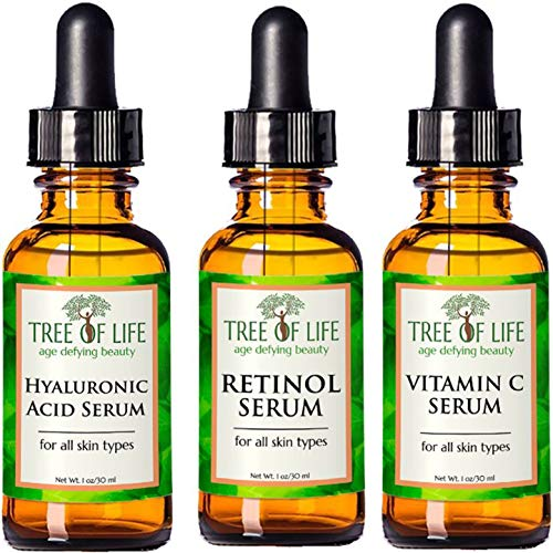 Anti Aging Serum 3-Pack - Face Serum Full Regimen (Best Rated Organic Skin Care Products)