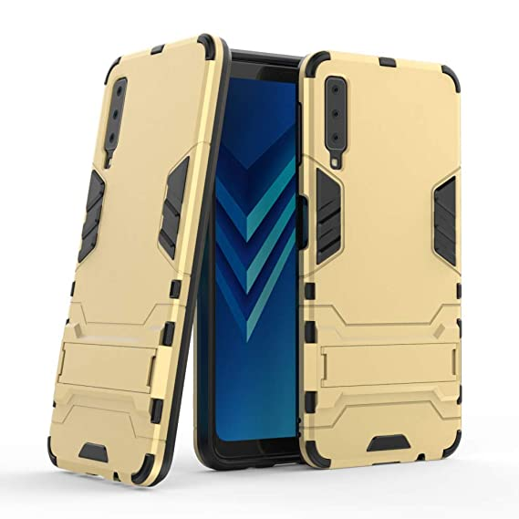newest fe810 9326a Galaxy A7 2018 Armor Case DWaybox 2 in 1 Hybrid Heavy Duty Armor Hard Back  Case Cover with Kickstand for Samsung Galaxy A7 2018 SM-A750 6.0 Inch ...