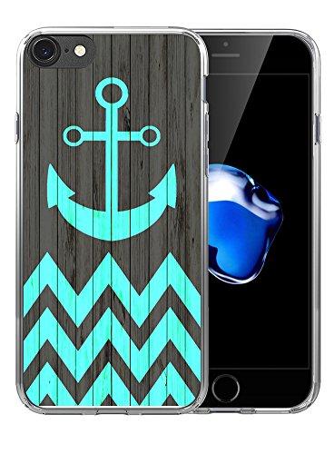 6S Plus Case/6 Plus Case Anchor Design/IWONE Designer Non Slip Rubber Durable Protective Skin Transparent Cover Shockproof Compatible with iPhone 6/6S Plus + Anchor Chevron Print