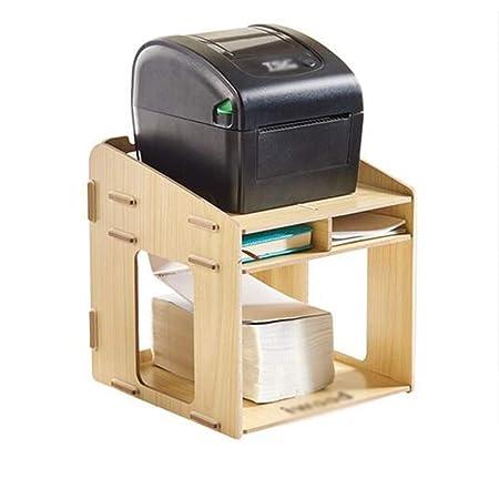 Organizador de escritorio de madera Bastidores impresora multi ...