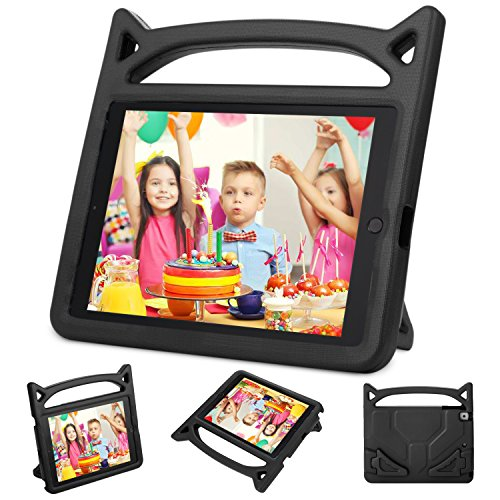 Cool Little Camera Case (iPad Mini Case, iPad Mini 2 / Mini 3 / Mini 4 case, Ubearkk [Shockproof] Case Light Weight Kids Friendly Case Super Protection Cover Handle Stand Case for Apple iPad Mini 1 / 2 / 3 / 4 (Black))