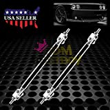 Black 6''-8'' Adjustable Front/Rear Frame Bumper Lip Splitter Strut Rod Support Bar