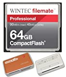 64GB Professional CF Memory Card for Canon XF100 EOS 50D Cameras. Extreme Speed 600X Card with all in one Hot Deals 4 Less Card Reader and Life Time Warranty.