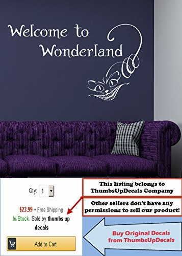 U201cWelcome To Wonderlandu201d Wall Decal