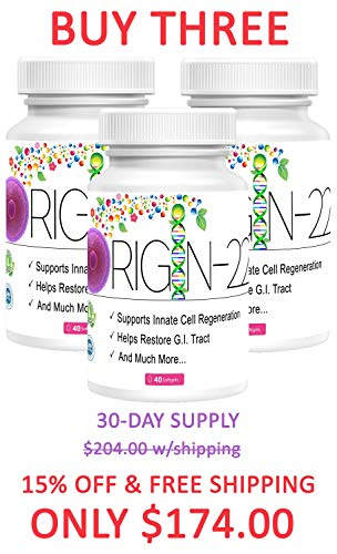 ORIGIN-22 | Cutting-Edge Gut & G.I. Regeneration | Clinically Researched | Pluripotent Stem Cell Induction