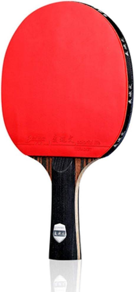 Raqueta de tenis de mesa profesional 5 capas de madera y 2 capas de carbono,raqueta de tenis de mesa,cómoda manija de goma,adecuada para todos los deportes y entretenimiento (tiro único)