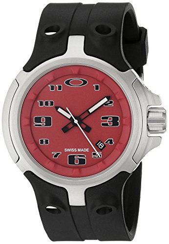 Oakley Men's 26-316 Bottle Cap Analog Display Swiss Quartz Black - Watchs Oakley