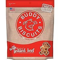 Cloud Star Soft & Chewy Buddy Biscuits - Dulces para perros, carne de res a la parrilla, bolsas de 6 onzas (paquete de 4)