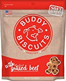 Cheap Cloud Star Soft & Chewy Buddy Biscuits Dog Treats, Grilled Beef , 6-Ounce Pouches (Pack Of 4)