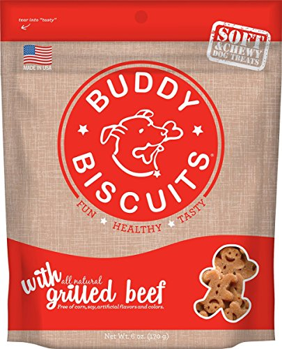 Cloud Star Soft & Chewy Buddy Biscuits Dog Treats, Grilled Beef , 6-Ounce Pouches (Pack Of 4) Buddy Biscuits Sweet Potato