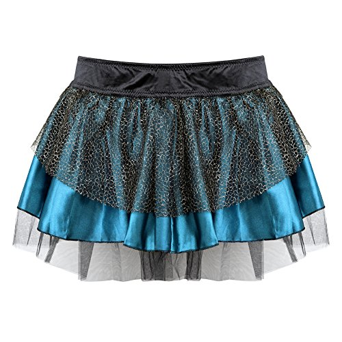 Women's Vintage Petticoat Tutu Underskirt Slip Multicolor Bubble Skirt L-XL -