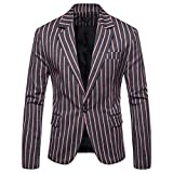 Muranba Clearance Men's Casual Slim One Button Suit Blazer Coat (US: 2XL / Tag : 3XL, Navy A)