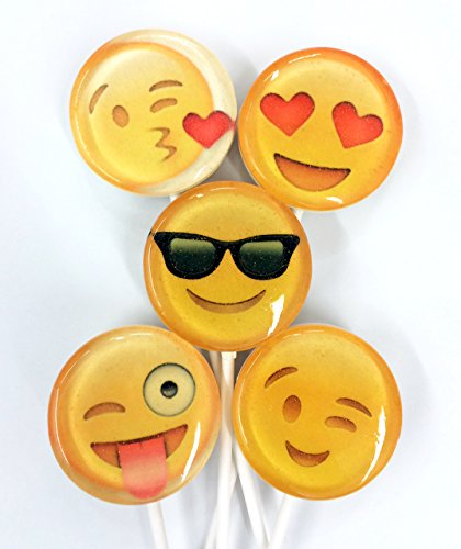 (Assorted Smiley Face Emoji Lollipops 25 Count)