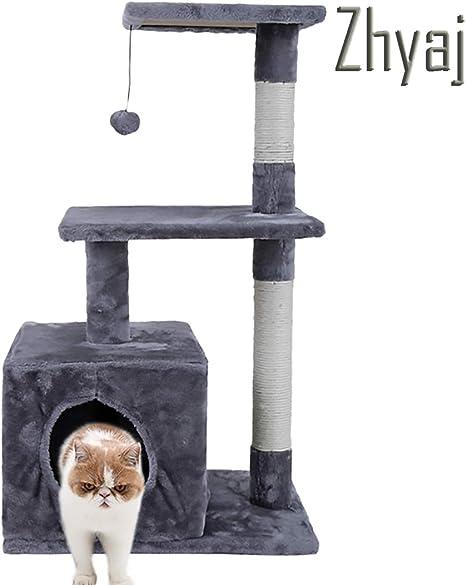 Zhyaj Rascador para Gatos Alta Estabilidad Escalador con Escalera ...