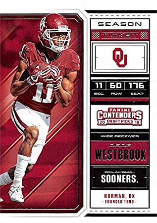 368a09de1 Dede Westbrook football card (Oklahoma Sooners) 2018 Panini Draft ...