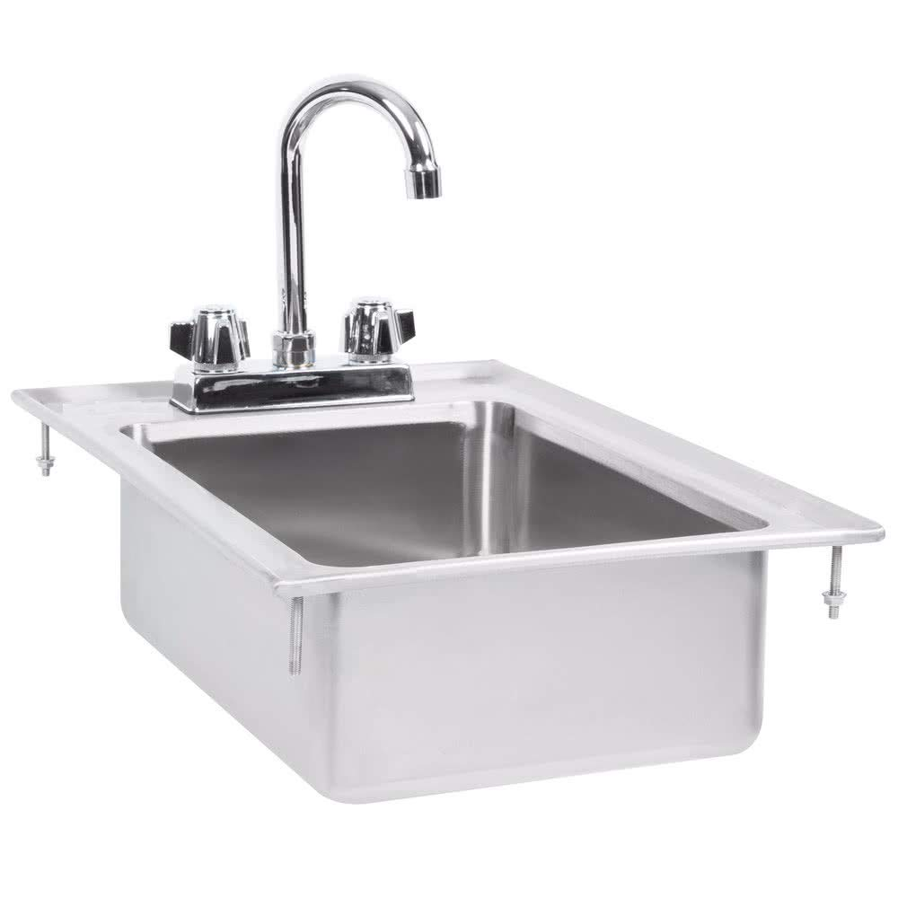 Drop in Sink Stainless Steel One Compartment 12 X 18 x 5