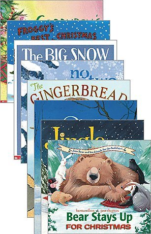 Set of 10 Paperback Christmas Books Includes Jingle Bells, Five Little Penguins Slipping on the Ice, the Big Snow, No Two Alike, the Gingerbread Girl, Bear Stays up for Christmas, Corduroy's Christmas Surprise, Owl Moon, Froggy's Best Christmas & Mooseltoe