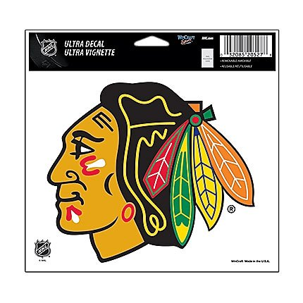 (WinCraft NHL Chicago Blackhawks 20522091 Multi-Use Colored Decal, 5
