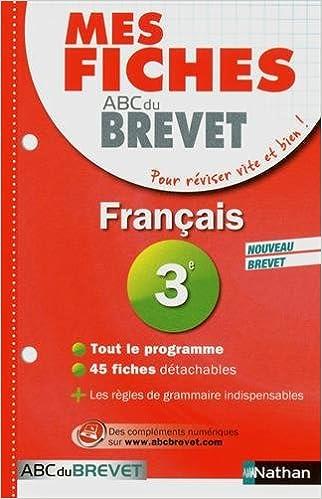 Téléchargement Mes Fiches ABC du BREVET Français 3e epub, pdf