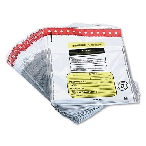 SteelMaster 2362011N06 Tamper-Evident Deposit/Cash Bags, Plastic, 12 x 16, White, 100 Bags/Box 2362011n06 Tamper