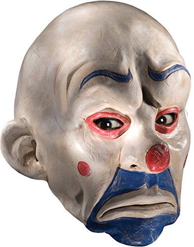 The Joker Costume Dark Knight (Batman The Dark Knight Adult Joker Latex Clown Mask, White, One Size)