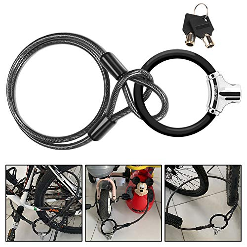 NDakter Bike Lock 12mm Heavy Duty Portable Bicycle Disc Lock, Cycling Locks Anti-Theft High Security for Mountain Bike Road Bike Commute Bike, Kid' Bike