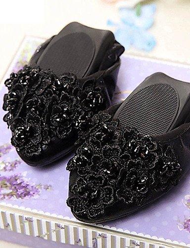 Vestido Oficina Uk4 Yyz Black Zapatos us9 Semicuero Eu40 Uk7 us6 5 Y 7 Zq 5 Trabajo 5 Tac¨®n Negro De Golden Cn37 Comfort Casual Plano Eu37 Exterior Plata Oro Cn41 Mujer Planos 7zxqgUdxw