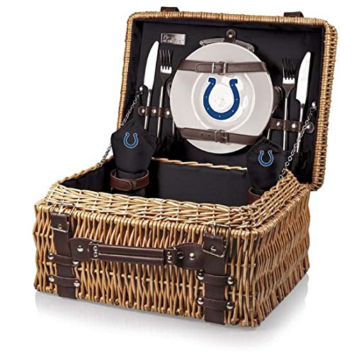 NFL Indianapolis Colts Champion Digital Print Picnic Basket, One Size, Natural/Black by PICNIC TIME