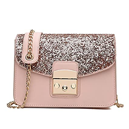Image Unavailable. Image not available for. Color  GMYANDJB Shoulder Bags  Women s Bags PU Crossbody Bag for Event Party Formal Outdoor Blue Black  Blushing ab880fe2be2ad
