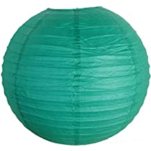 SUNBEAUTY 8 inch Chinese Paper Lanterns Pack of 10 Teal Color for Wedding Party Decoration Baby Shower Home Decoration