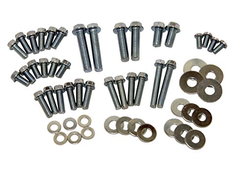Factory Spec, IN-12700-1, 54 Piece Motorcycle Hardware Kit Assorted Metric Bolts & Washers 8mm 10mm M6 M8 by Factory Spec