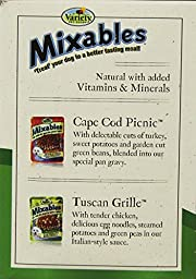 Variety 00076 12/3-Ounce Mixables Poultry Lovers Natural Dog Food, Includes 6-Cape Cod Picnic and 6-Tuscan Grille, 2-Pack