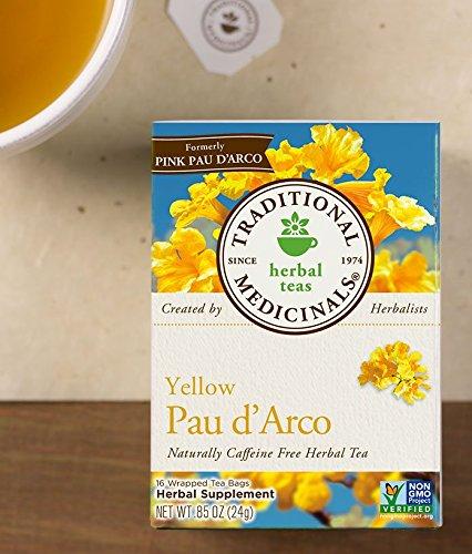 Traditional Medicinals Yellow PAU D'Arco, Herbal Tea, 16 CT