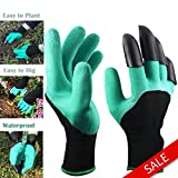 Garden Genie Gloves Waterproof Garden Gloves With Claws for Digging & Planting,Gardening,Cleaning,Restoration Work, Easy to Dig & Plan,Right Hand Claws,Unisex,1 Pair-As seen on TV Fathers Day Gift