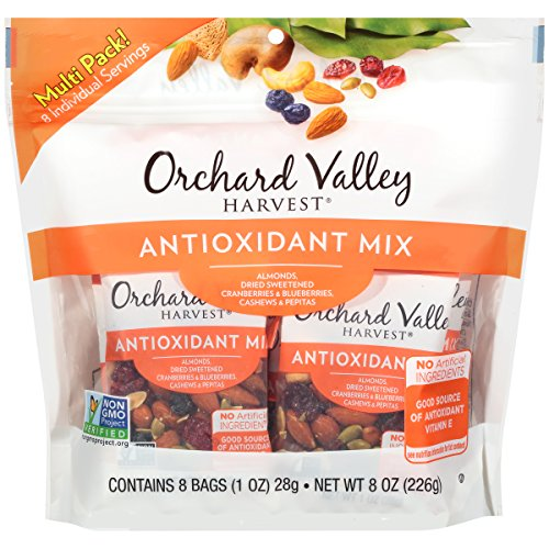 Orchard Valley Harvest Antioxidant Mix Multi Pack,  Non-GMO Project Verified, No Artificial Ingredients, 8 ounces