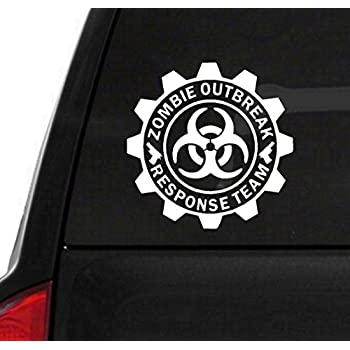 "BERRYZILLA 5.25"" ROUND - Zombie Outbreak Response Team Decal Vinyl Sticker (package come with Zombie Hunter Permit Decal) stickerciti Brand BERRZILLA"