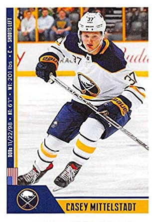 b4252c6d3 2018-19 Panini NHL Stickers Hockey  42 Casey Mittelstadt RC Rookie Card Buffalo  Sabres