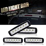 """DOT Approved 4PCS 18W 6"""" inch LED Light Bar Flood Beam Offroads On Bumper Grill Backup Reverse Lamp Waterproof for ATV Trailer Golf Cart Boat Truck 4X4 Toyota Boat RZR Ford Tractor Suv Boat Jeep JK 4Wd Truck 12V-24V"""