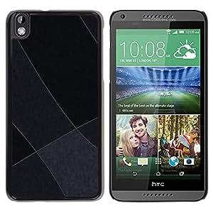 TopCaseStore / la caja del caucho duro de la cubierta de protección de la piel - Gray Tones - HTC DESIRE 816
