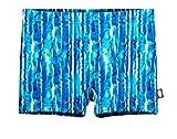 City Threads Girls' Swimming Suit Bottom Boy Short, Water Tie-Dye, 16