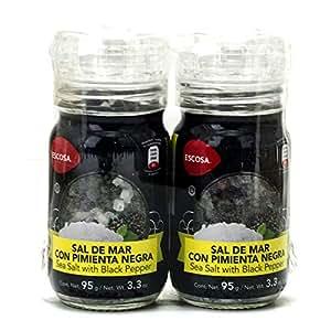 Escosa Sal de Mar con Pimienta Negra, 190 g