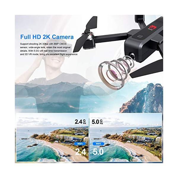 EACHINE EX3 Drone 2K Telecamera GPS Brushless 5G WiFi Lente Grandangolo Pieghevole Drone App Controllo FPV RTF 2 spesavip