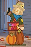 Fall Lighted Harvest Scarecrow Decoration