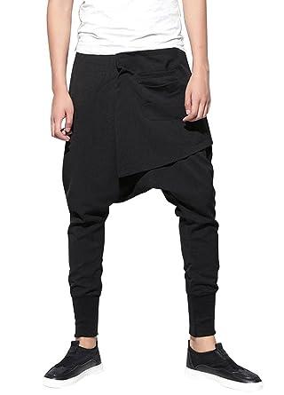 MatchLife Homme Pantalon Cargo Sarouel Jogger Pants Jogging Hip Hop Sport  Pantalons Baggy Casual Harem 1eb8901b9a9
