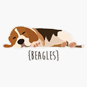 "Beagles Sticker Vinyl Waterproof Sticker Decal Car Laptop Wall Window Bumper Sticker 5"""